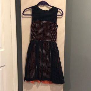 NAvy & coral French connection dress